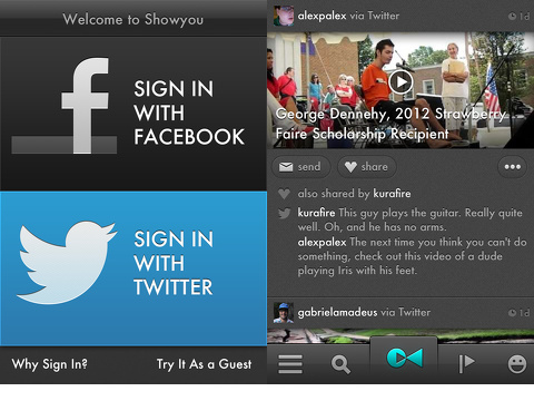 Showyou iPhone App
