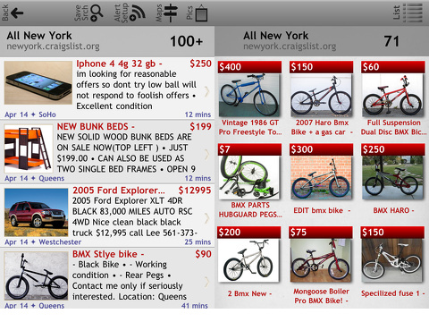 Craigslist Mobile Ultimate for iPhone