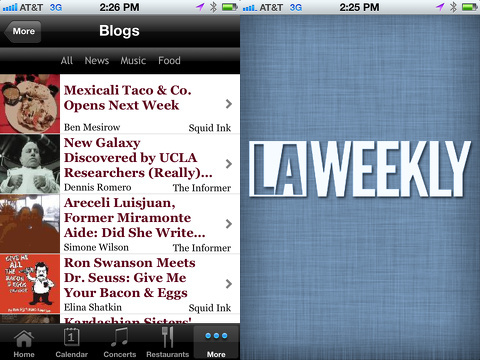 LA Weekly iPhone app