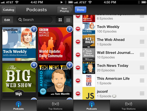 Podcasts app review - Catalog