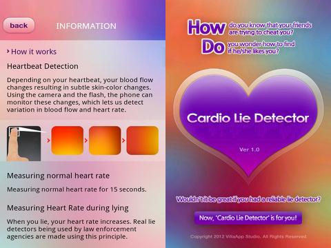 cardio lie detector premium iphone app