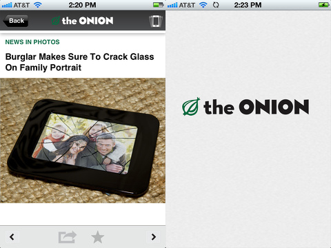 The Onion iPhone app