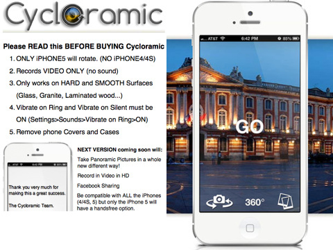cycloramic iphone app review