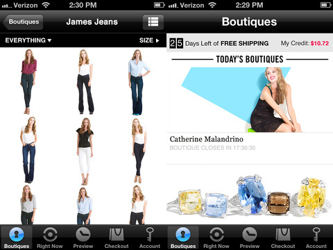 rue la la shop all day iphone app review