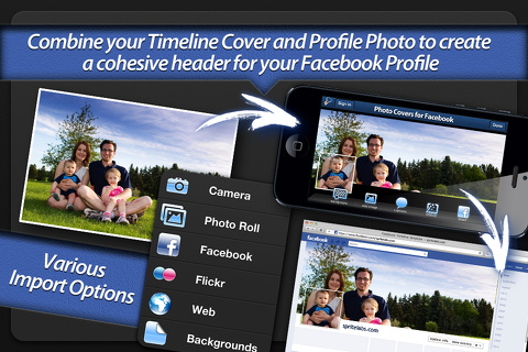 Photo Covers for Facebook iphone app review