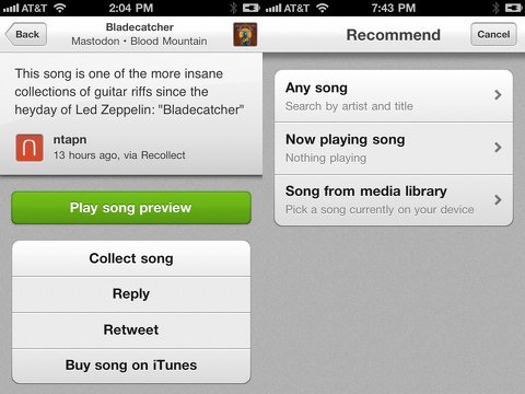 recollect beautiful music recommendations iphone app review
