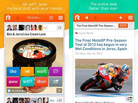 rockmelt discover the best of the internet iphone app review