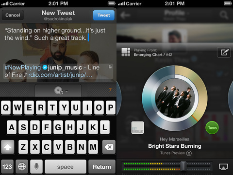 twitter #music iphone app review