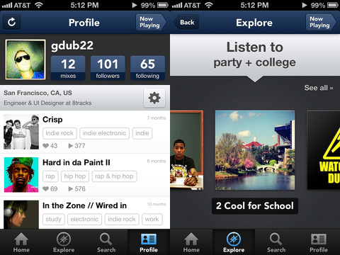 8tracks radio iphone app review