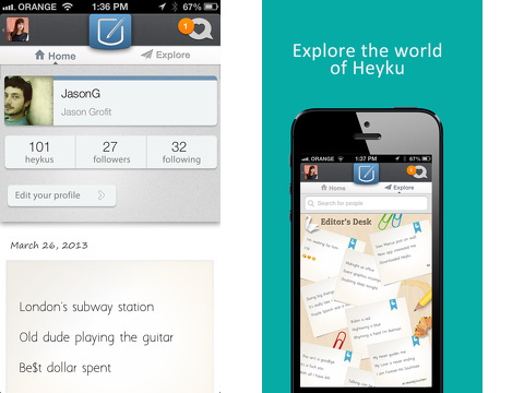 heyku iphone app review