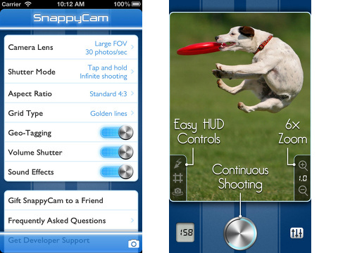 snappycam pro fast camera iphone app review