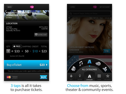 applauze concerts sports theatre iphone app review