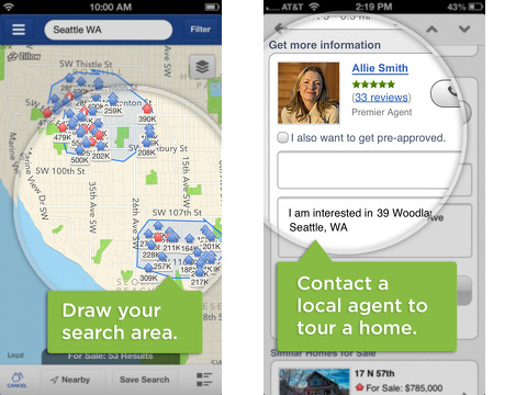 real estate by zillow homes apartments iphone app review