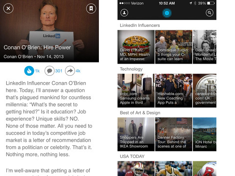 linkedin pulse iphone app review