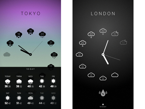 climate clock minimal hourly forecast iphone app review
