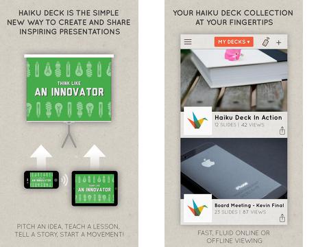 haiku deck presentation and slideshow iphone app review