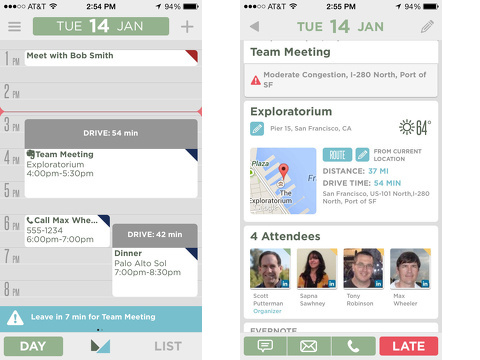 mynd smart calendar meeting scheduler iphone app review