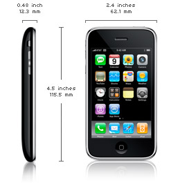 3G iPhone Dimensions