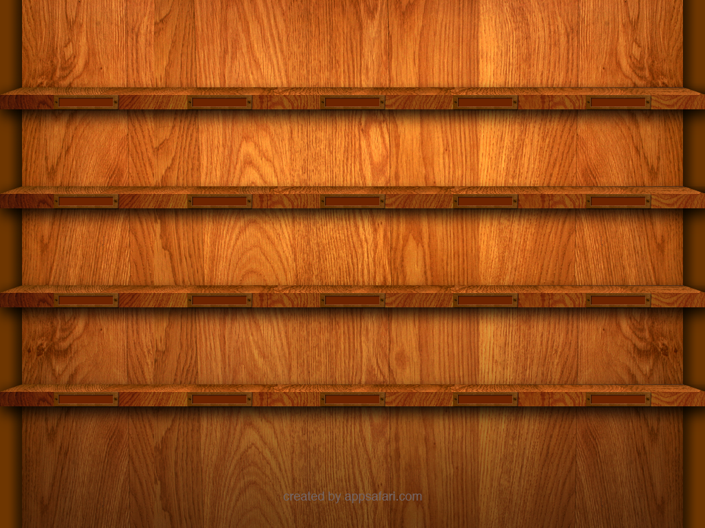 """13 Reviews on """"iPad Shelf Wallpaper Template and Contest"""""""