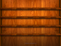 Wooden iPad Shelf Wallpaper in Lanscape View
