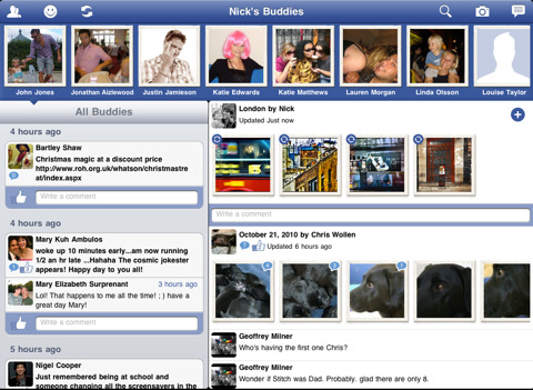 Buddies - Facebook Browser