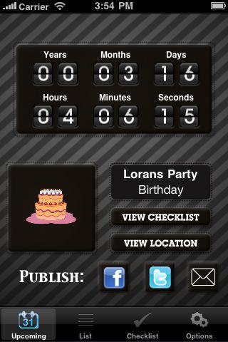 Event Planner, Checklist & Countdown