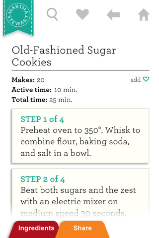 Martha Stewart Makes Cookies for iPhone/iPod