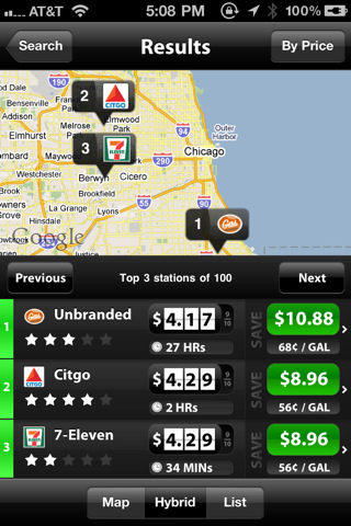 SmartFuel iPhone app