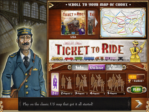 Ticket to Ride for iPad