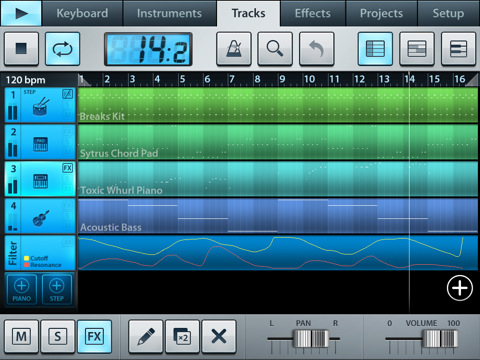 FL Studio Mobile HD on the iPad