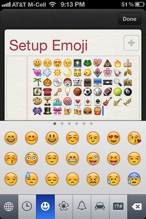 Setup Emoji on a new iOS 5 device or iPhone 4S