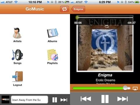 GoMusic app for Google Music