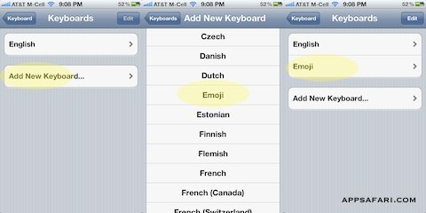 Activating Emoji on a new iOS 5 device or iPhone 4S