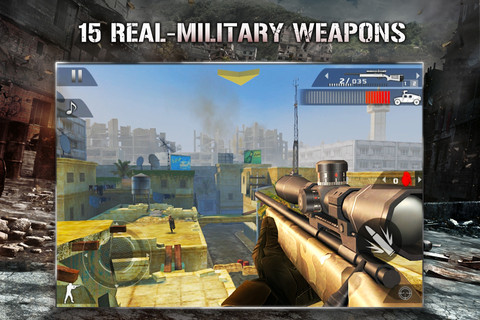Modern Combat 2: Black Pegasus on the iPhone