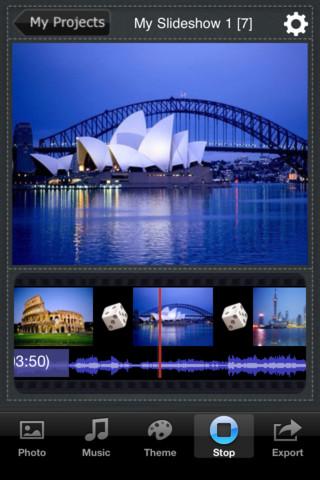 Slideshow+ iPhone app