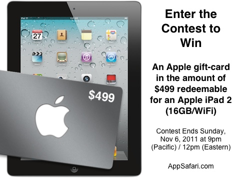 AppSafari.com iPad 2 Contest for Trivia Together