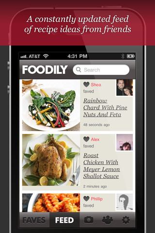 Foodily iPhone app review