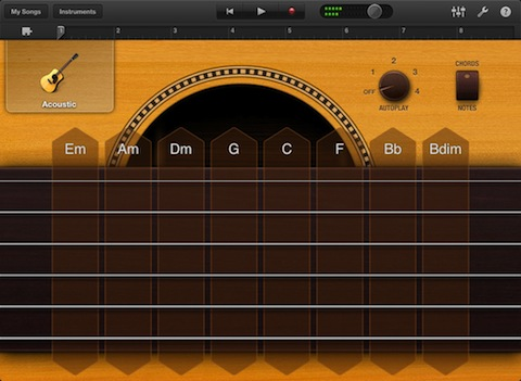 GarageBand for iPad Smart Guitar
