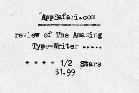 The Amazing Type-Writer iPhone app review