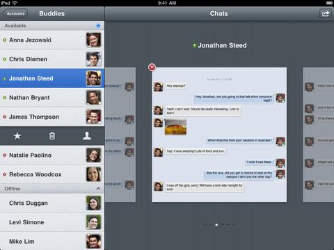 Verbs IM iPad app