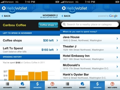 HelloWallet iPhone app review