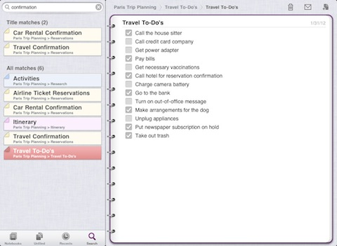 Microsoft OneNote for iPad app review