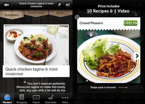Jamie's Recipes iPhone app review