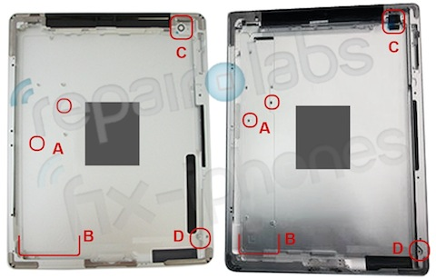 iPad 3 Leaked rear back panel