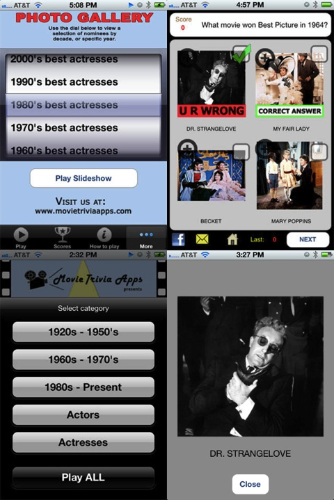 Movie Awards Trivia iPhone app review