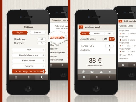 DESIGNFEE Calculator iPhone app review