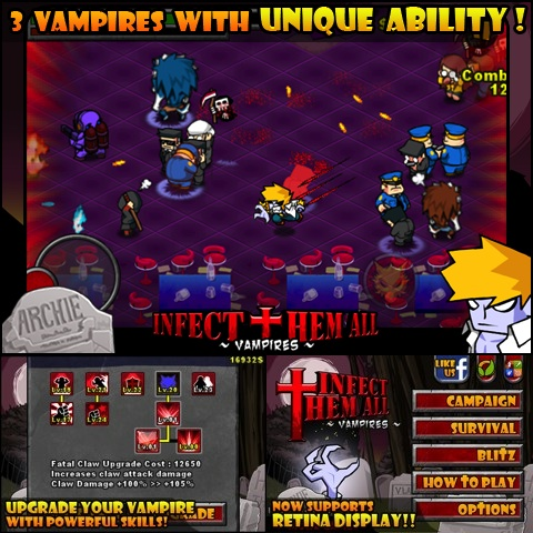 Infect Them All : Vampires iPhone app review
