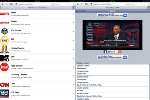iOSLiveTV.com web app review