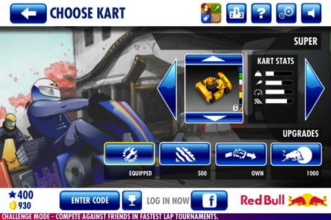 Red Bull Kart Fighter World Tour iPhone app review