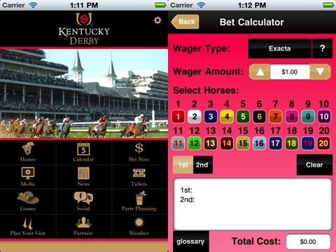 Kentucky Derby iPhone app review